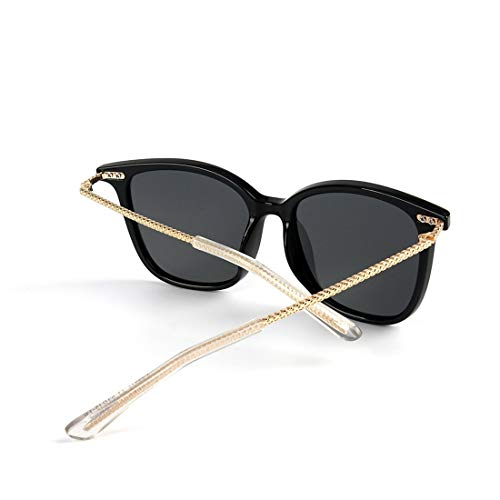 Black Gold pour Verres Zebra Frame Bois Black Lens Lens polarisés Frame LiShihuan en avec Soleil Femmes Color de Lunettes Pink qzaR7a