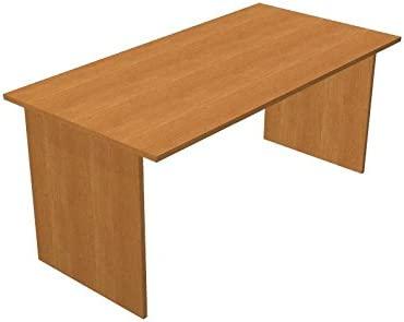 Ideapiu Escritorio wengue con Cadera melaminico Desk with Panel ...