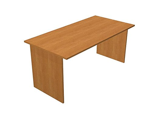 Ideapiu Escritorio wengue con Cadera melaminico Desk with Panel ...