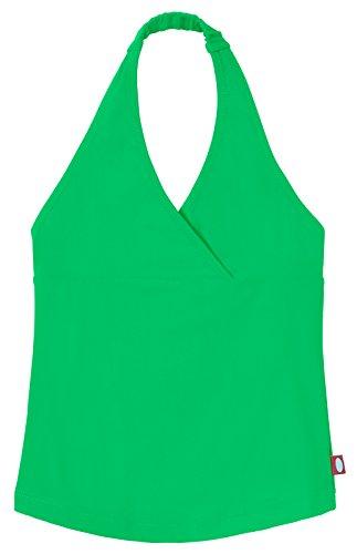 (City Threads Little Girls Tankini Swimsuit for Girls Toddler Bathing Suit Rash Guard Halter Top for Beach Pool Swimwear, Elf, 4)