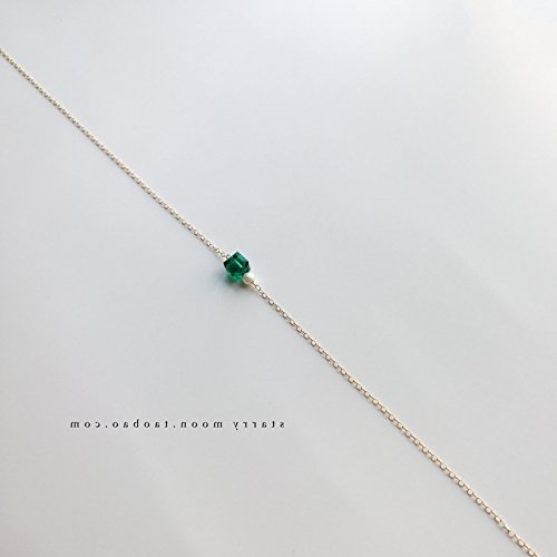 Blue Moon Freshwater Pearls (Generic emerald necklace Pendant Retro women girl clavicle chain necklace Pendant women girl gold-plated Blue jade _freshwater_ pearl necklace Pendant _14k)