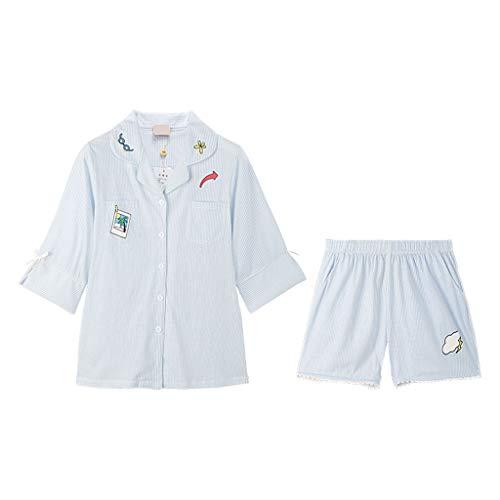 dimensioni Pigiama HUXIUPING in corta donna XL Shorts cotone manica CxwP0nC