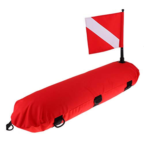 SM SunniMix Scuba Diving Inflatable Surface Marker Buoy Float with Dive Flag Safety Gear Equipment