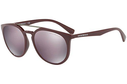 (Emporio Armani EA4103 Sunglasses Bordeaux Brown w/Dark Grey Mirror Lens 56mm 55985R EA 4103)