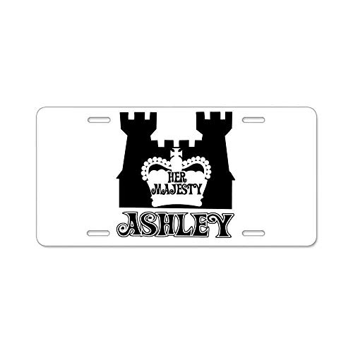 Durable Her Majesty Ashley Auto Car Tag for Vehicle Car and Truck License Plate 6