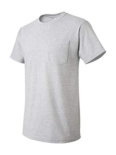 Fruit of the Loom 5.6 oz Cotton Pocket T-Shirt - ATHLETIC HEATHER - XX-Large