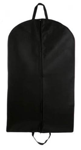Cheap Garment Bags Breathable Suit/dress Zipper Garment Bag, 45'', Black, Tuva Inc. by Tuva