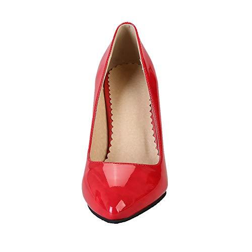 Ballet Alto Tirare Flats Rosso GMMDB006210 Puro Tacco AgooLar Donna FX1vnPp