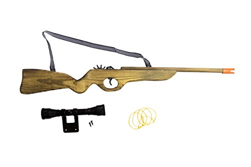 Wooden Snipper Rubber Band Rifle Shooting Gun Wood Toy Gift for Kids and Adults (Wood Sniper Rifle)