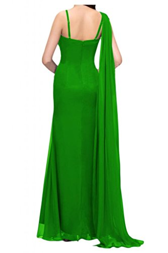 Por la noche de la moda nupcial de la Toscana dos-Traeger por la noche vestidos de novia de Gasa de cristal virgen bola de largo Prom vestidos de fiesta Verde