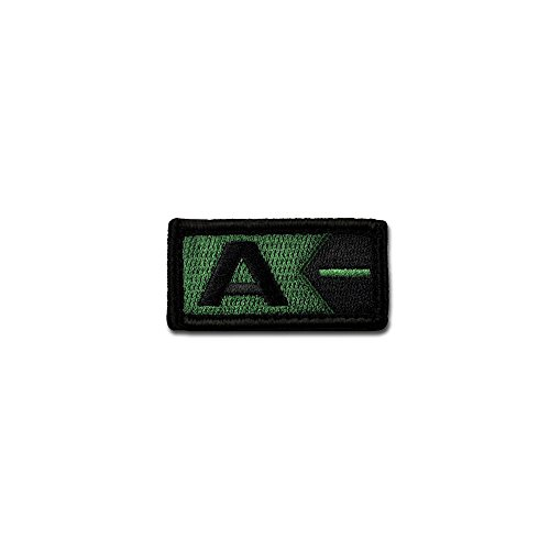 Bastion Tactical Combat Badge Military Hook and Loop Badge Embroidered Velcro Morale Patch - Blood Type A Neg ODG