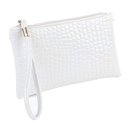 - Women's Coin Purse,Crocodile Leather Clutch Handbag Bag by-NEWONESUN