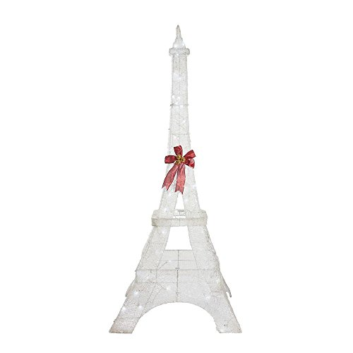 Home Accents Holiday 86 in. Durable Metal Frame LED Lighted Twinkling Weather Resistant PVC Eiffel Tower (Tower Eiffel Outdoor)