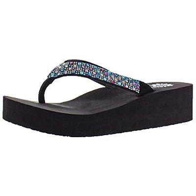Yellow Box Scalia Women Open Toe Synthetic Black Flip Flop Sandal