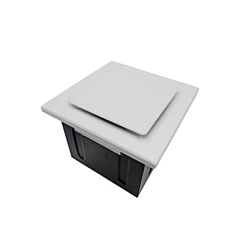 Aero Pure SBF 110 G5 W 110-CFM Super Quiet Bathroom Ventilation Fan, Energy Star Qualified, White outlet