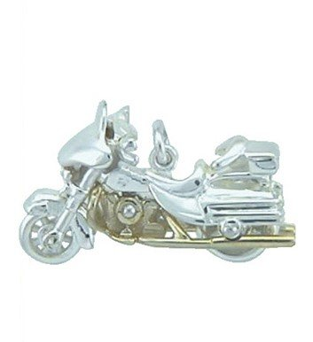 Colgante de * Harley Davidson * llavero de plata: Amazon.es ...