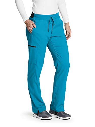 (Grey's Anatomy GRSP500 Cargo Pant - Spandex Stretch Blue Tonic S Petite)