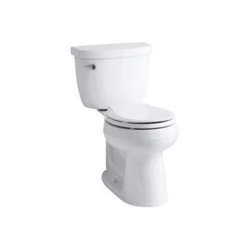 Kohler K-3888-0 White Cimarron 1.6 GPF Two-Piece Round Comfort Height Toilet with AquaPiston Technology - Seat Not -