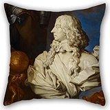 Artistdecor Throw Cushion Covers Of Oil Painting Francesco Stringa - Allegorical Still Life With Bernini's Bust Of Francis I D'Este,for Lounge,dance Room,deck Chair,saloon,bar,chair 16 X 16 Inches ()