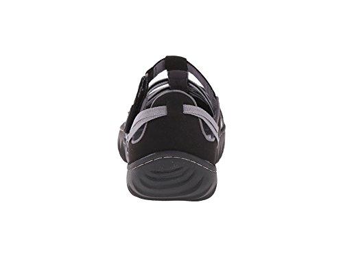 Jambu Womens In Tessuto Chiuso Sandali Casual Con Cinturino Alla Caviglia Nero / Grigio / Bianco