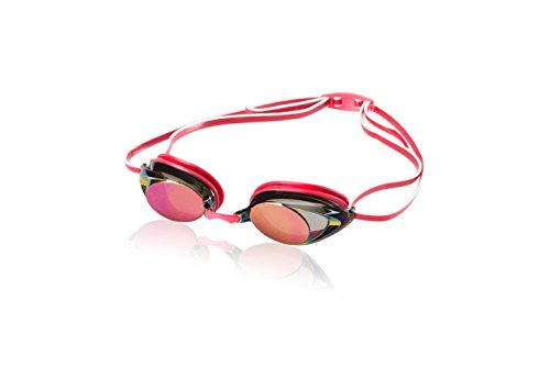 Speedo Women'S Vanquisher 2.0 Mirrored Swim Goggles, Ruby, One - Goggles Swim Mirrored Prescription