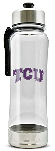 NCAA Texas Christian Horned Frogs 20oz Clip-On Clear Plastic Water Bottle