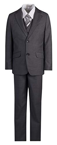 Boys Slim Fit Dark Grey Suit in Toddlers to Boys Sizing (10 Boys)]()