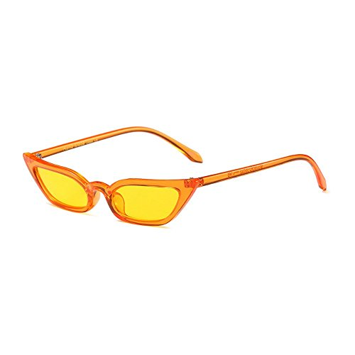 Femme MINCL yellow soleil Lunette Orange de qYfBYz