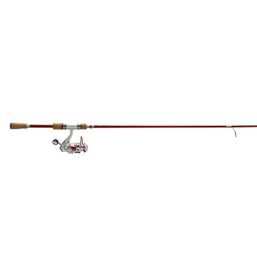 No 8 Tackle CASC66M Candy Apple 6-Feet 6-Inch Medium Combo Spinning Rod, Red