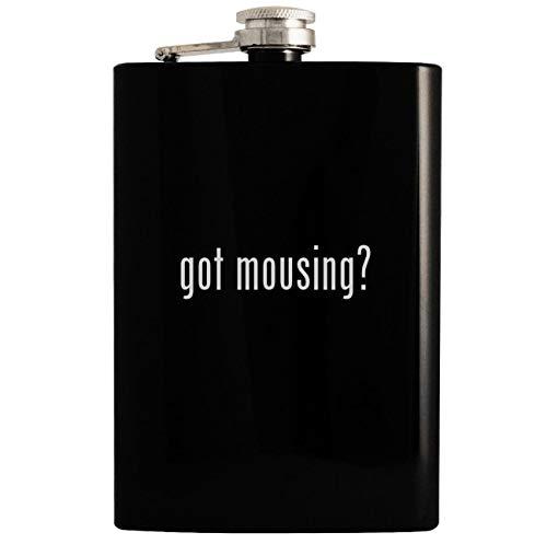 got mousing? - 8oz Hip Drinking Alcohol Flask, Black -