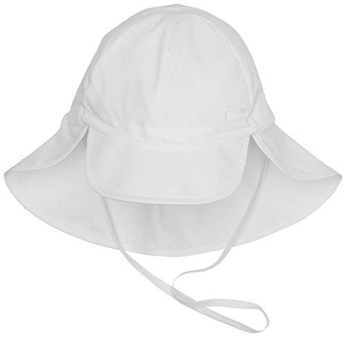Döll Unisex - Baby Mütze 001665335 Bindemütze mit Nackenschutz, Gr. 47, Weiß (1000 bright white)