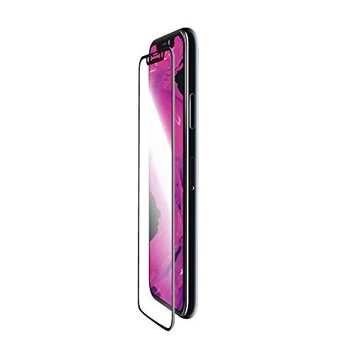 魅惑的なすばらしいです魅力的であることへのアピールiPhone XR ガラスフィルム 「GLASS PREMIUM FILM」 平面オールガラス ブラック/高光沢/衝撃吸収/0.33mm LP-MIPMFGFSKBK