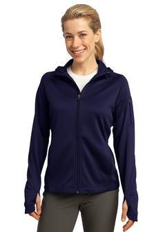 Sport-Tek L248 Ladies Tech Fleece Full-Zip Hooded Jacket - True Navy - XXL