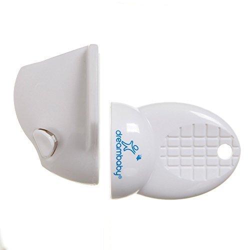 Dreambaby Adhesive Mag Locks - White - 2 Packs Of 8 Locks & 1 Key = 16 Locks & 2 Keys
