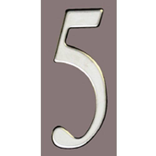 Special Lite Products SS3-Number 5 Stainless Steel Self Adhesive Address Number 5 5, 3''