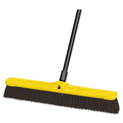 Rubbermaid FG9B1700MARN Push Broom Floor Sweep heavy duty plastic block - Case o (Block Duty Heavy Sweep Floor)