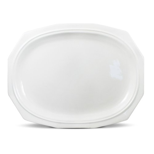 Pfaltzgraff Heritage Oval Serving Platter, 14-Inch, White ()