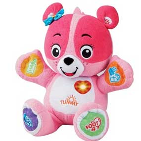 Cora is a lovable plush learning companion for infants and toddlers.