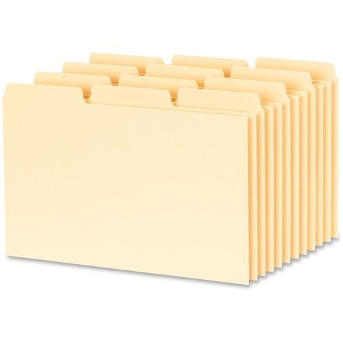 Oxford 1/3-cut Blank Tab Index Card Guide - Blank - 4quot; x 6quot; - 100 / Box - Buff Divider by Oxford