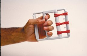 FEI 10-0800 Rubber Band Hand Exerciser with 5 Red Bands, Light, Latex ()