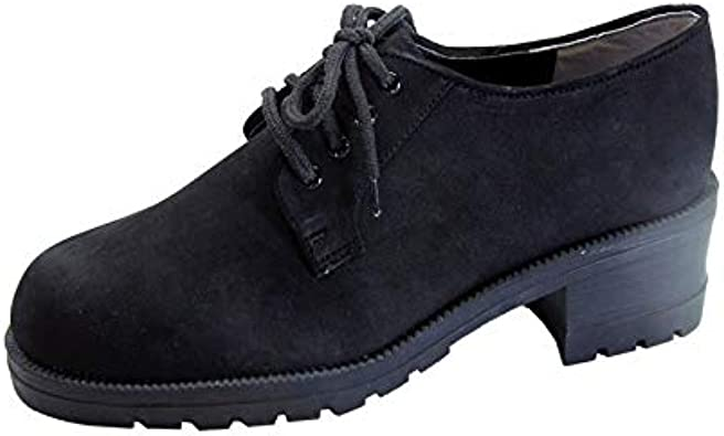 Wide Width Leather Lace Up Oxford Shoes