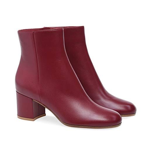 Ferse Damen Stiefel Schwarz Abend Klobig Weiß Knöchel Stiefel Leder Rote Herbst Hoch Block Chelsea Winter HNBoots Schuhe 8n14T8