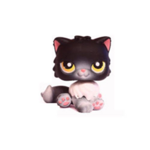 Lps black persian cat