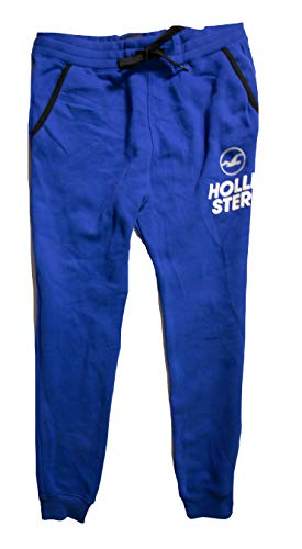 Hollister Men's Sweatpants (Blue Super Skinny Jogger 17, M)
