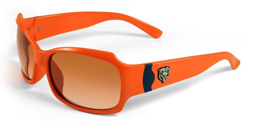 NFL Chicago Bears Bombshell Sunglasses with Bag, Orange/Navy -