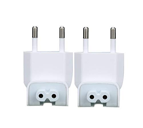 AOBOR US to Europe Plug Converter Travel Charger Adapter for MacBook Mac iBook iPhone iPod AC Power Adapter Brick(2 PCS)