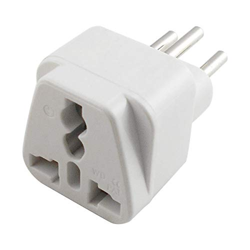fivekim Universal Uk,Us,Eu To Switzerland Swiss Ac Power Plug Travel Adapter Converter Adapters White