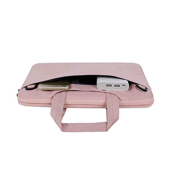 MOSISO-Laptop-Shoulder-Bag-Compatible-13-133-Inch-MacBook-Pro-MacBook-Air-Notebook-Computer-Protective-Polyester-Flapover-Messenger-Briefcase-Carrying-Handbag-Sleeve-Case-Cover-Rose-Quartz