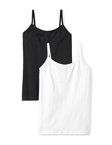 Daily Ritual Women's Seamless Camisole, 2-Pack Shirt, Black/White, XXL