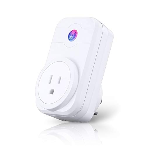 Smart Plug Wifi Outlet ANOOPSYCHE Socket Compatible With Alexa Google Home and IFTTT No Hub Required Remote Control Timer Function,White (1 pack)